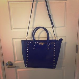 Michael Kors Saffiano Stud Large Leather Tote